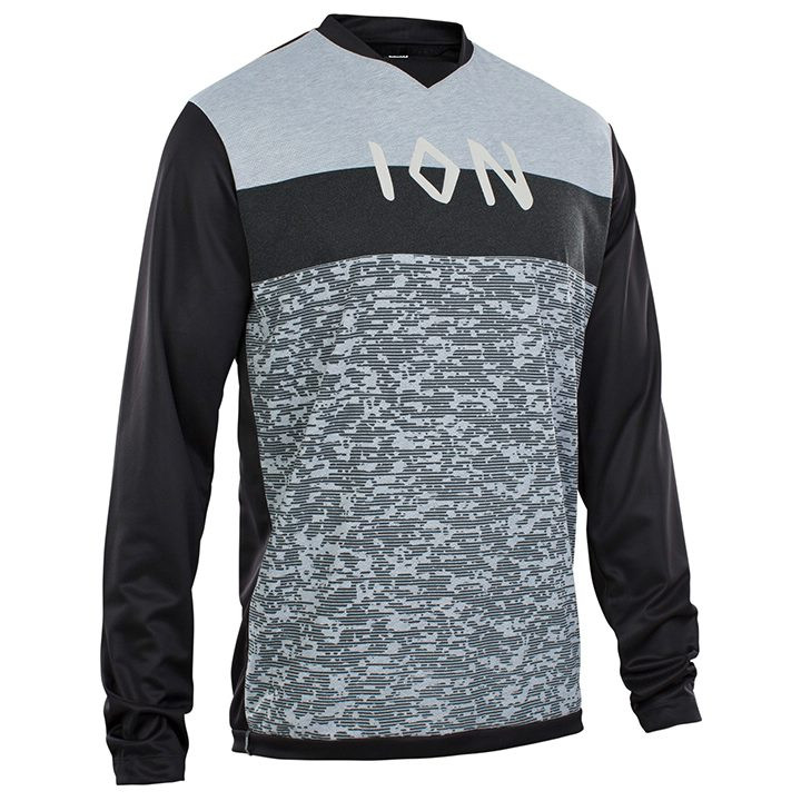 ION Fietsshirt met lange mouwen Scrub AMP bikeshirt, voor heren, Maat 2XL, Wiele