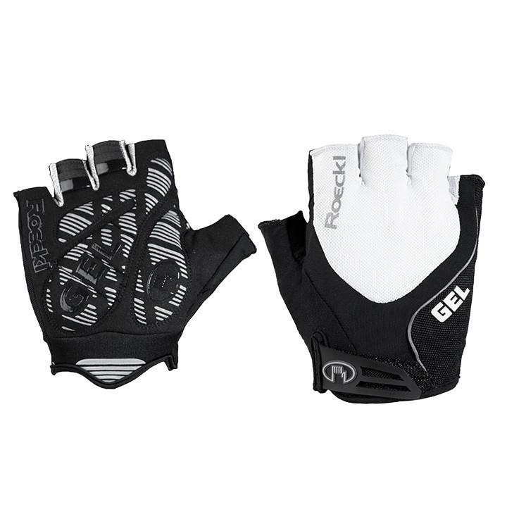 ROECKL Imuro wit-zwart handschoenen, voor heren, Maat 7, Fietshandschoenen, Wiel