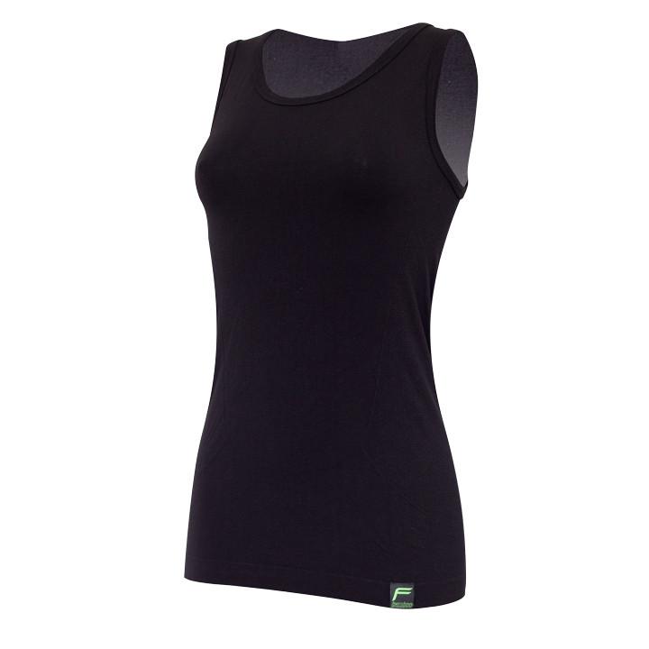 F-LITE mouwloos Organic Bamboo zwart onderhemd, voor heren, Maat L, Onderhemd, W