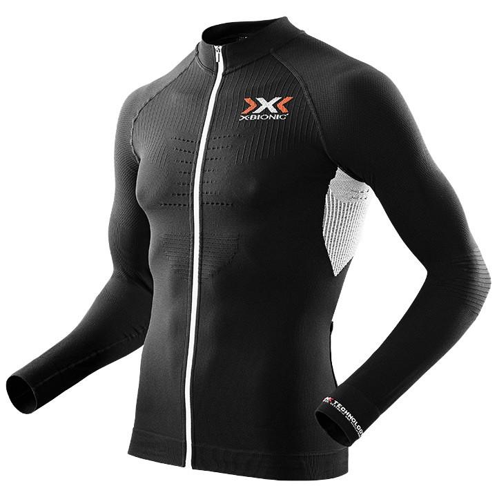 X-BIONIC shirt met lange mouwen The Trick zwart-wit fietsshirt met lange mouwen,