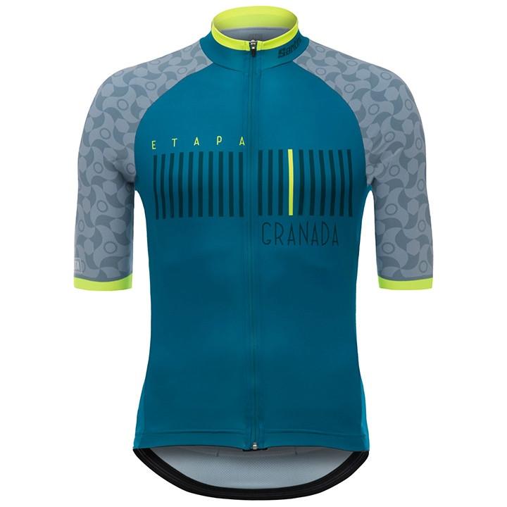 LA VUELTA Granada 2017 fietsshirt met korte mouwen, voor heren, Maat S,