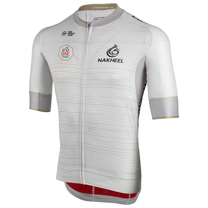 UAE Tour 2019 fietsshirt met korte mouwen, voor heren, Maat 2XL, Fiets shirt, Wi