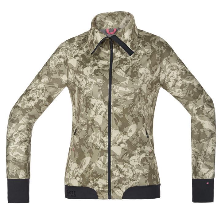 GORE dames windjack Power Trail camouflage dameswindjack, Maat 38, MTB jas, Wiel