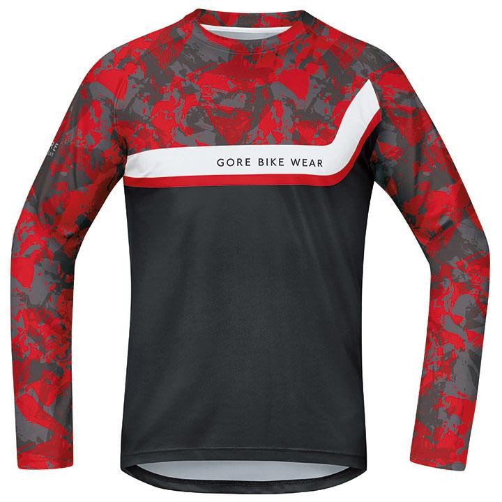 GORE met lange mouwen Power Trail bikeshirt, voor heren, Maat M, Fietsshirt,