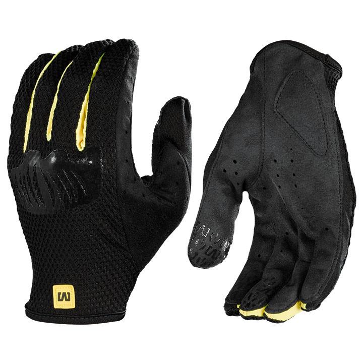MAVIC langevingerhandschoenen Stratos, zwart-geel handschoenen met lange vingers