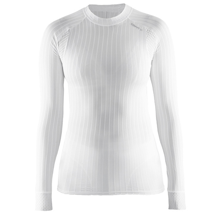 CRAFT dames fietsonderhemd met lange mouwen Active Extreme 2.0 wit, Maat L, Onde