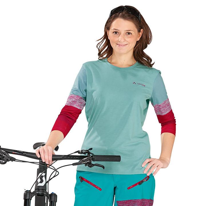 VAUDE dames met lange mouwen bikeshirt, Maat 38, Wielrenshirt,