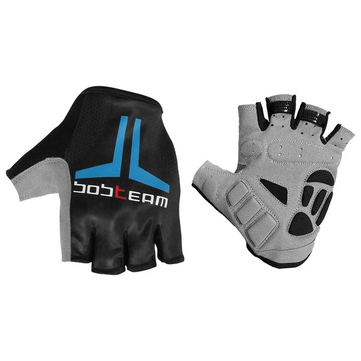 Fietshandschoenen, BOBTEAM Evolution 2.0 zwart-blauw handschoenen, voor heren, M