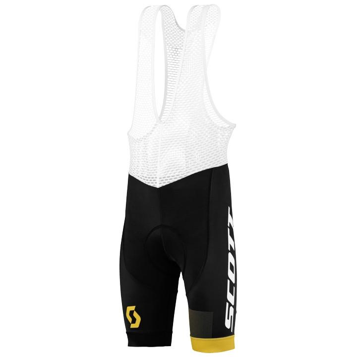 SCOTT korte broek met bretels RC Pro zwart-geel korte koersbroek, voor heren, Ma