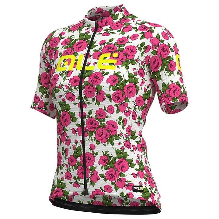 ALÉ Damesshirt Roses damesfietsshirt, Maat M, Wielershirt, Fietskleding