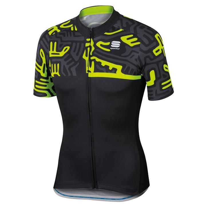 SPORTFUL shirt met korte mouwen Graffiti fietsshirt met korte mouwen, voor