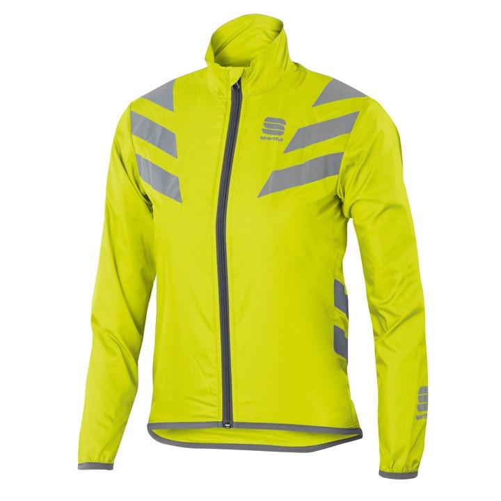 SPORTFUL kinderReflex neon geel windjack, Maat L, Kinder fietsjas, Kinder