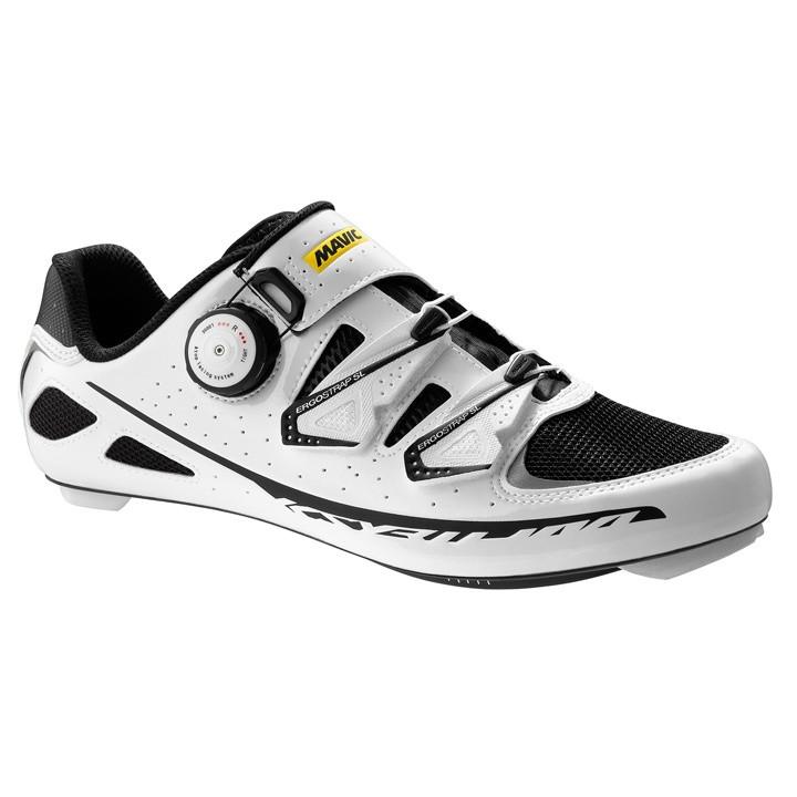 MAVIC Ksyrium Ultimate wit-zwart raceschoenen, voor heren, Maat 7,5, Racefiets