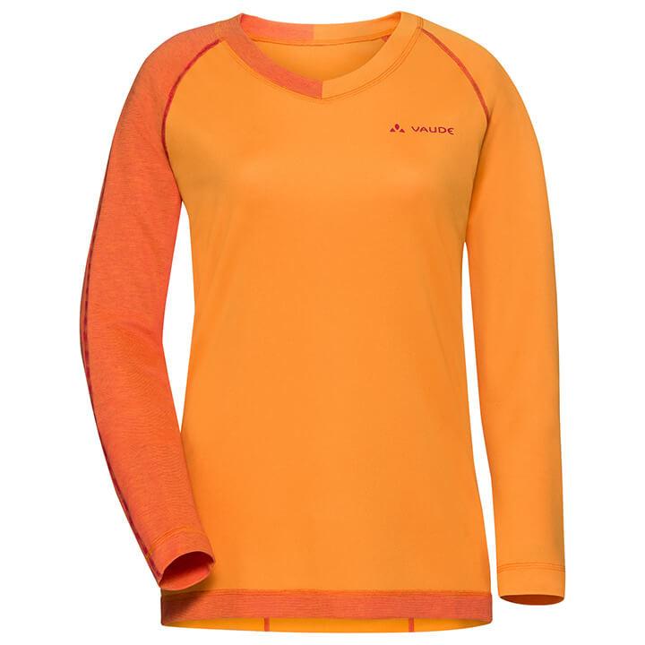 VAUDE dames met lange mouwen Moab bikeshirt, Maat 38, Wielrenshirt,