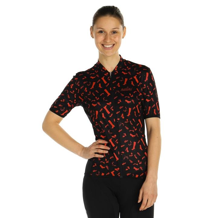 NALINI Damesshirt Red Shoes damesfietsshirt, Maat L, Fietsshirt, Fietskleding