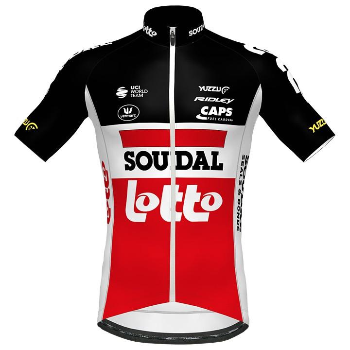 Lotto Soudal Aero 2020 fietsshirt met korte mouwen, voor heren, Maat S, Fietsshi