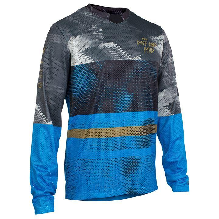 ION Fietsshirt met lange mouwen Scrub bikeshirt, voor heren, Maat L, Fietsshirt,