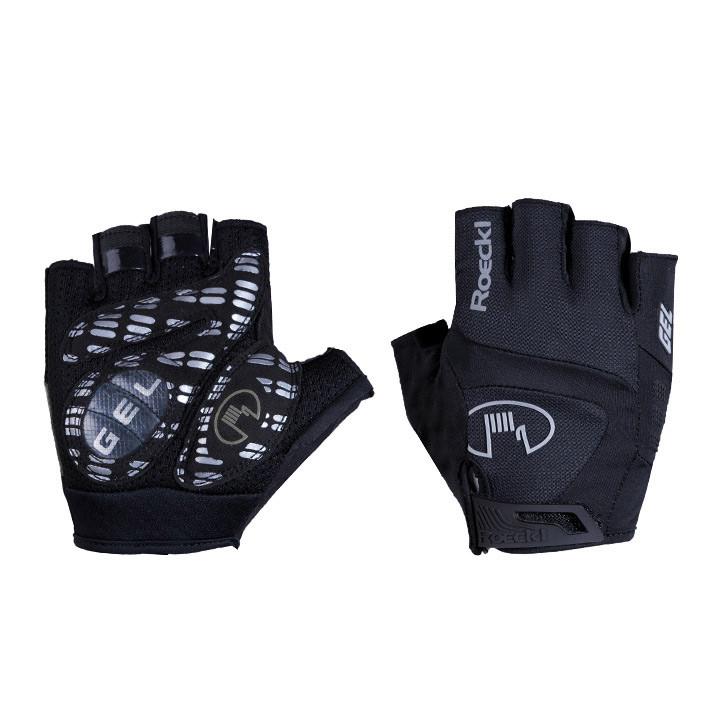 ROECKL Idegawa zwart handschoenen, voor heren, Maat 10,5, Fietshandschoenen, Fie