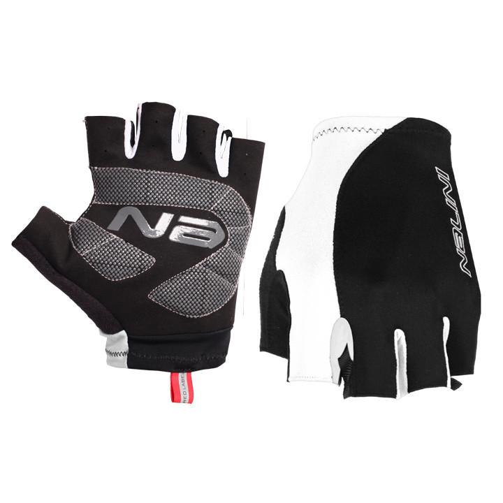 NALINI PRO Logo zwart-wit handschoenen, voor heren, Maat 2XL, Fietshandschoenen,