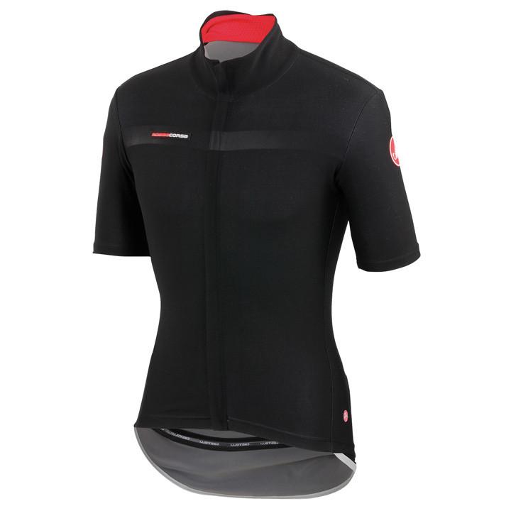 CASTELLI Light Jacket met korte mouwen Gabba 2 zwart fietsjack, voor heren, Maat