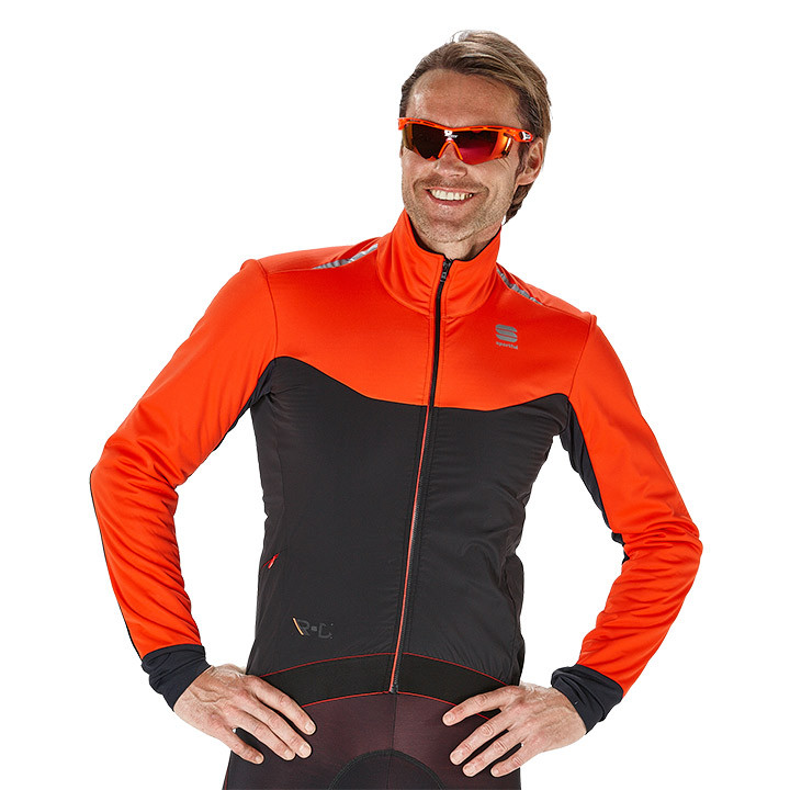 SPORTFUL winterjack R&D Light zwart-oranje Light Jacket, voor heren, Maat L, Fie