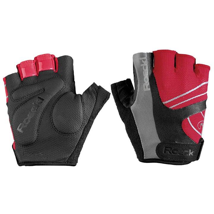ROECKL Bagwell, roodz-zwart handschoenen, voor heren, Maat 8, Wielerhandschoenen