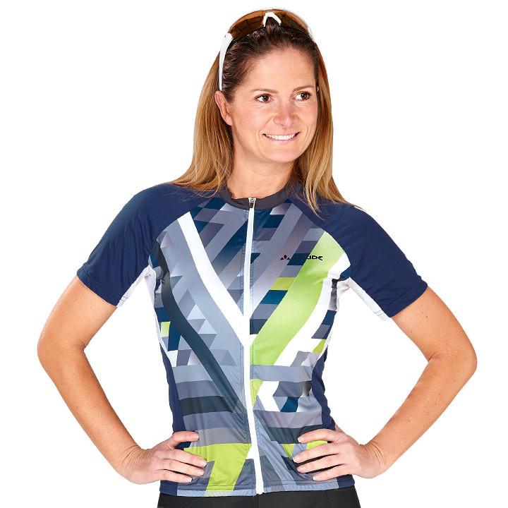 VAUDE damesshirt met korte mouwen Puntello damesfietsshirt, Maat 36, Fiets