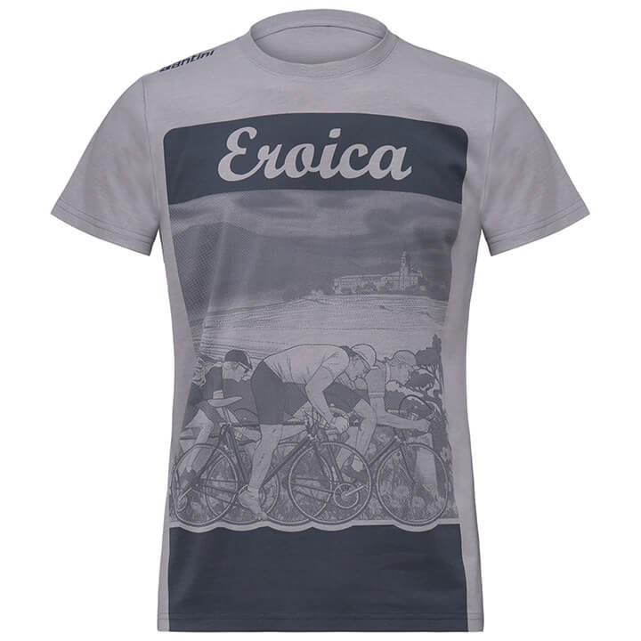 SANTINI T-shirt Eroica Epoca t-shirt, voor heren, Maat S, MTB shirt, Mountainbik