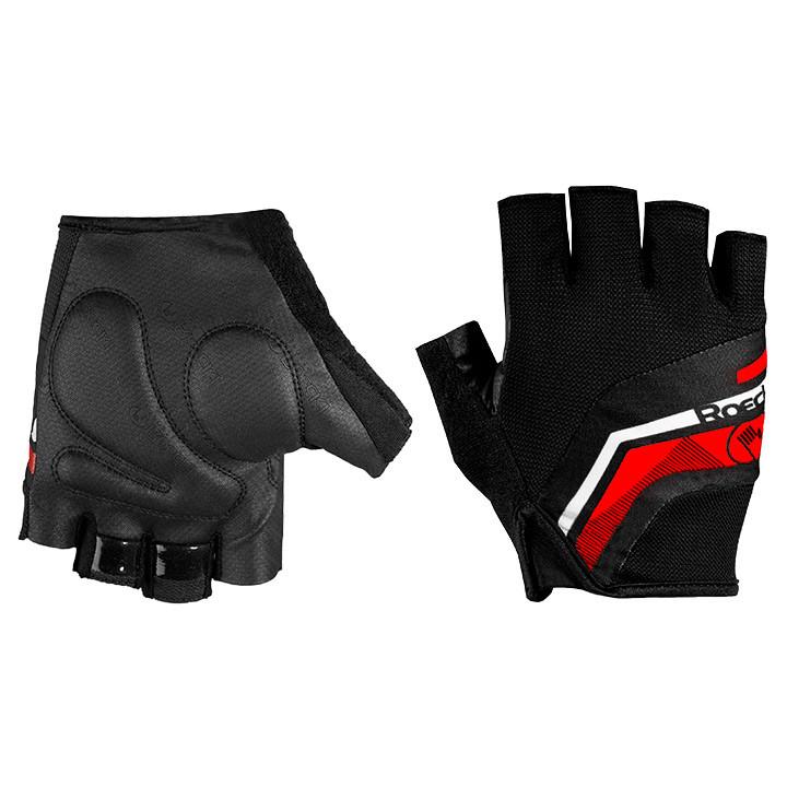 ROECKL Baveno, zwart-rood handschoenen, voor heren, Maat 7, Fietshandschoenen, W