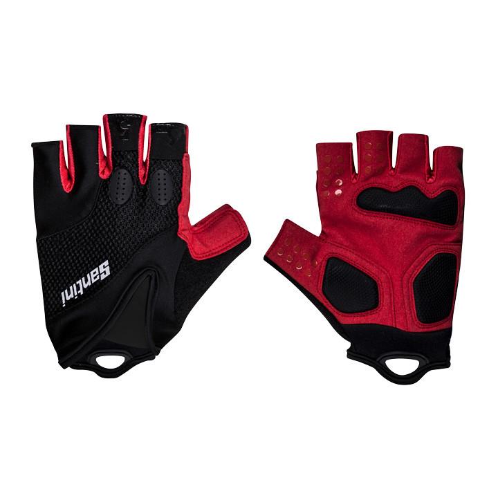 SANTINI fietsAtom zwart-rood handschoenen, voor heren, Maat XS-S, Fiets handscho