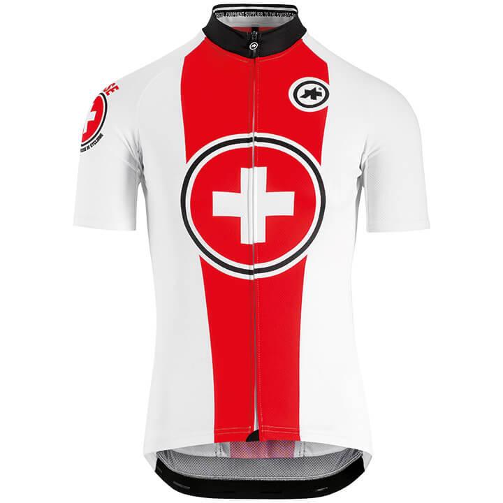 Zwitserland Nationale teams 2019 fietsshirt met korte mouwen, voor heren, Maat S