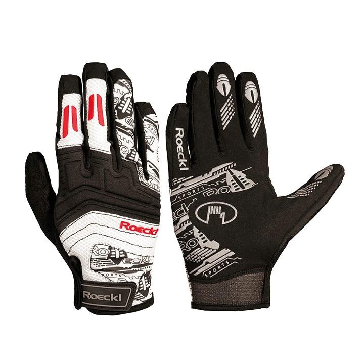 ROECKL langevingerhandschoenen Minden, zwart-rood handschoenen met lange