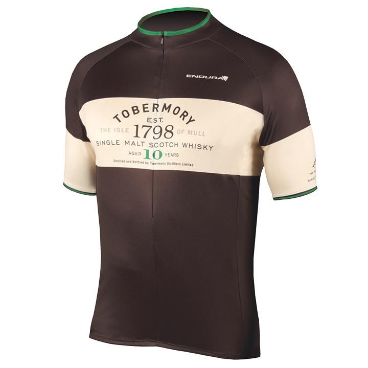 ENDURA Tobermory Whisky, zwart fietsshirt met korte mouwen, voor heren, Maat S,