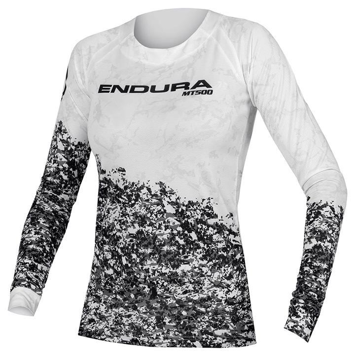 ENDURA Damesfietsshirt met lange mouwen MT500 Marble LTD bikeshirt, Maat L, Fiet