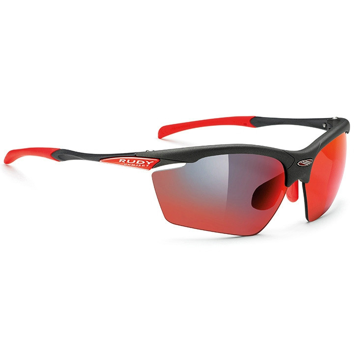 RUDY PROJECT fietsbril Agon graphite multilaser red sportbril, Unisex (dames /