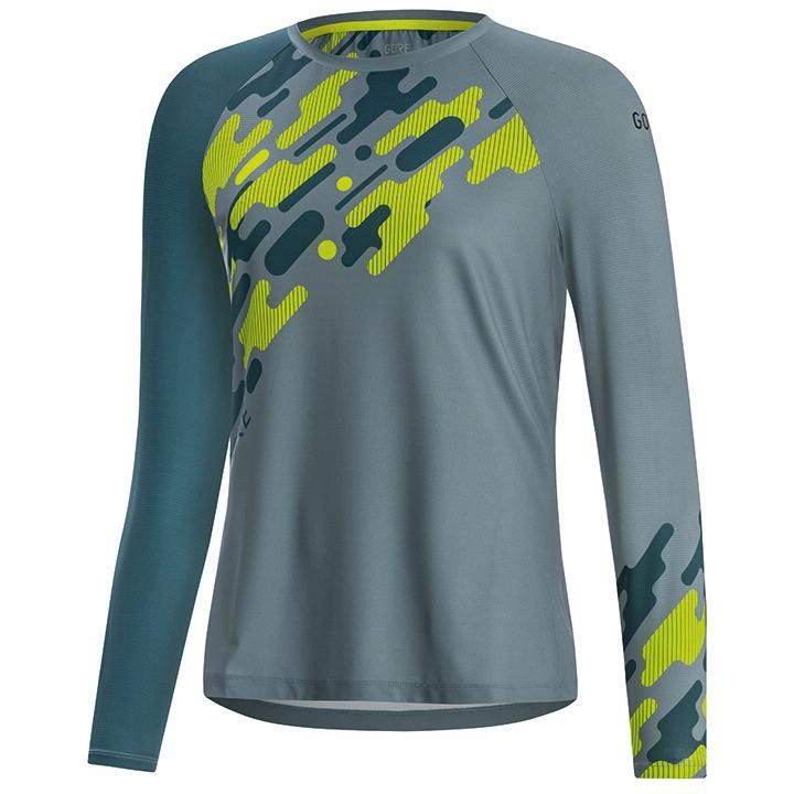 GORE Damesfietsshirt met lange mouwen C5 Trail bikeshirt, Maat 38, Wielrenshirt,