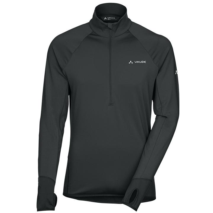 VAUDE shirt met lange mouwen Livigno Halfzip zwart fietsshirt met lange mouwen,