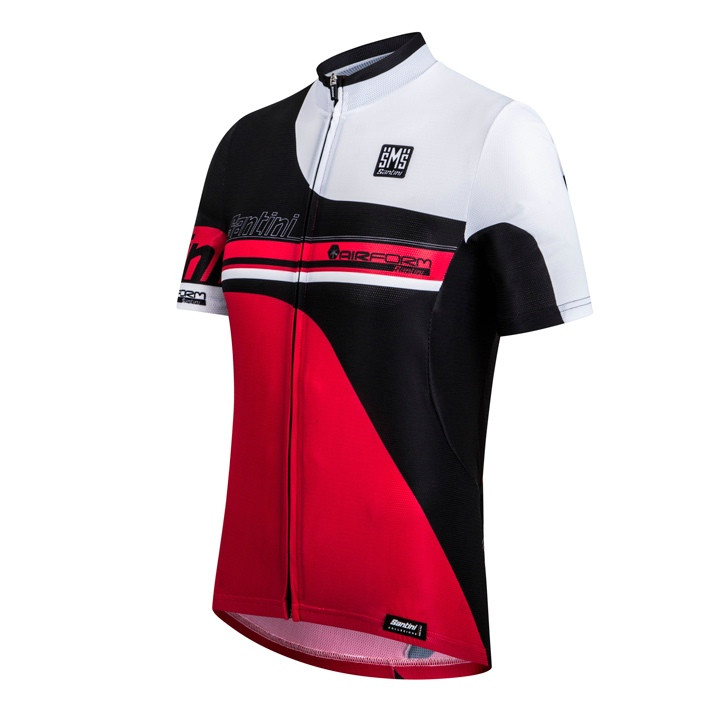 SANTIN shirt met korte mouwen Air-Form rood-zwart-wit fietsshirt met korte mouwe