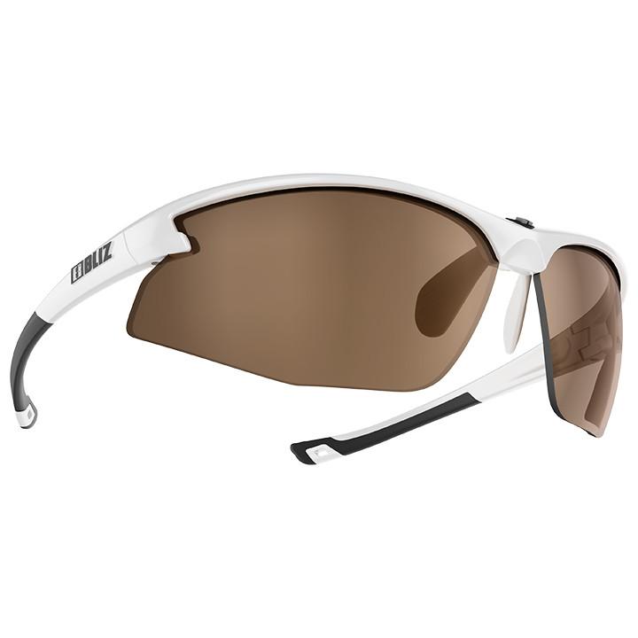 BLIZ Motion 2019 shiny white Radsportbrille, Unisex (Damen / Herren), Preisvergleich