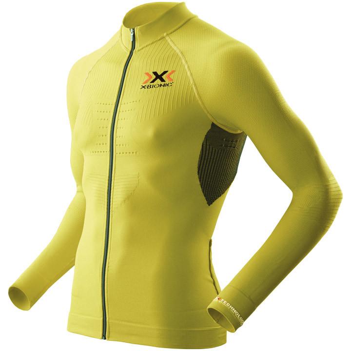 X-BIONIC shirt met lange mouwen The Trick geel-zwart fietsshirt met lange mouwen