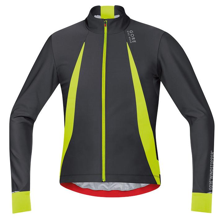 GORE Oxygen WS zwart-neongeel Light Jacket, voor heren, Maat L, Fiets jack, Wiel