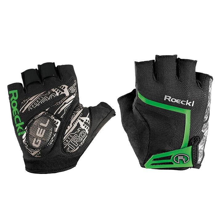 ROECKL Isaga, zwart-groen handschoenen, voor heren, Maat 7,5, Fietshandschoenen,