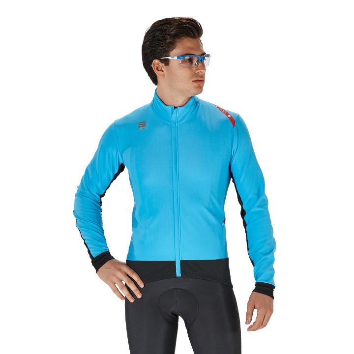 SPORTFUL Fiandre Wind blauw-zwart Light Jacket, voor heren, Maat XL, Wielerjack,