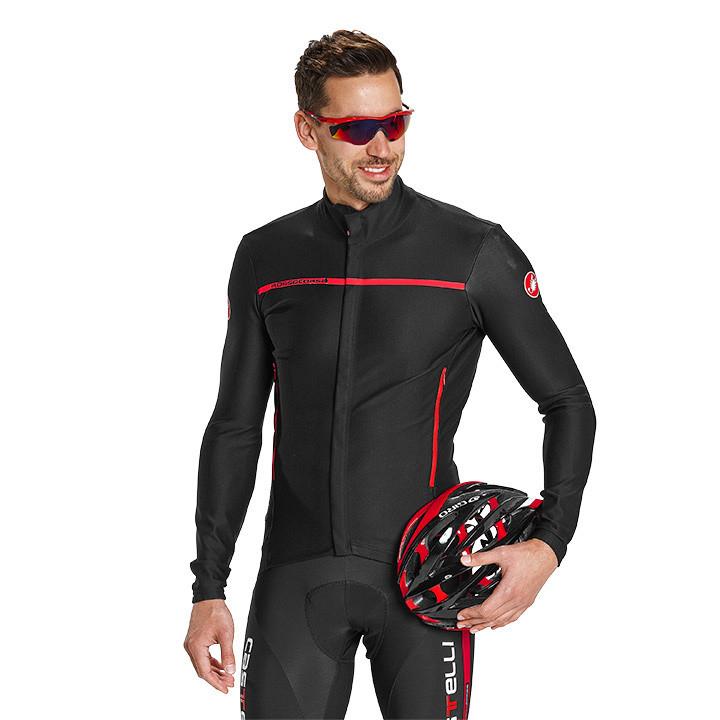 CASTELLI Perfetto zwart Light Jacket, voor heren, Maat XL, Wielerjack, Wielerkle