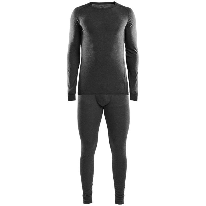 CRAFT ondergoed set Merino 180, voor heren, Maat L, Onderhemd, Wielerkleding