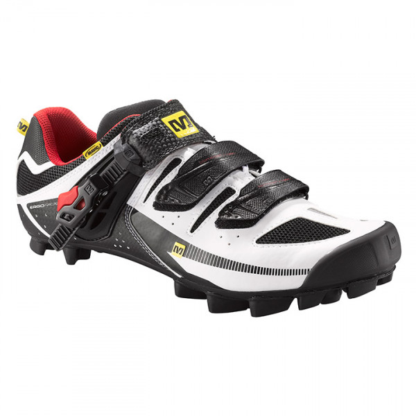 Chaussures VTT Rush blanches-rouges-noires