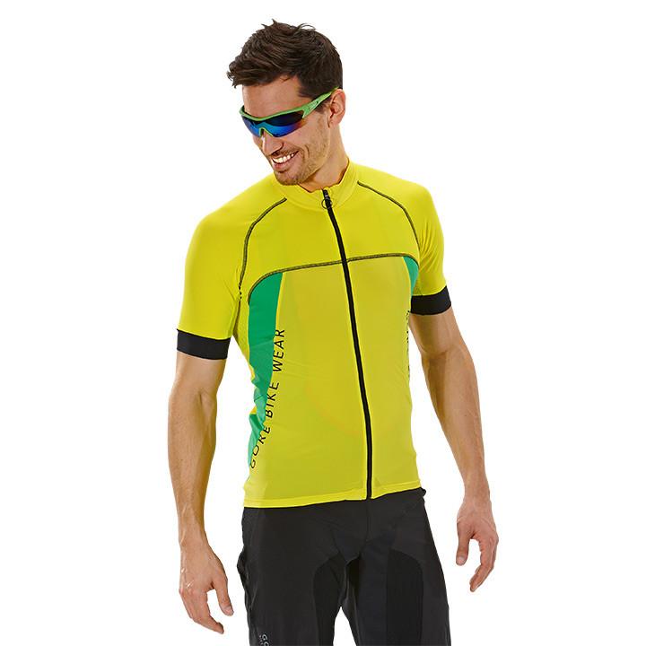 GORE Alp-X Pro, geel-groen fietsshirt met korte mouwen, voor heren, Maat M, Fiet