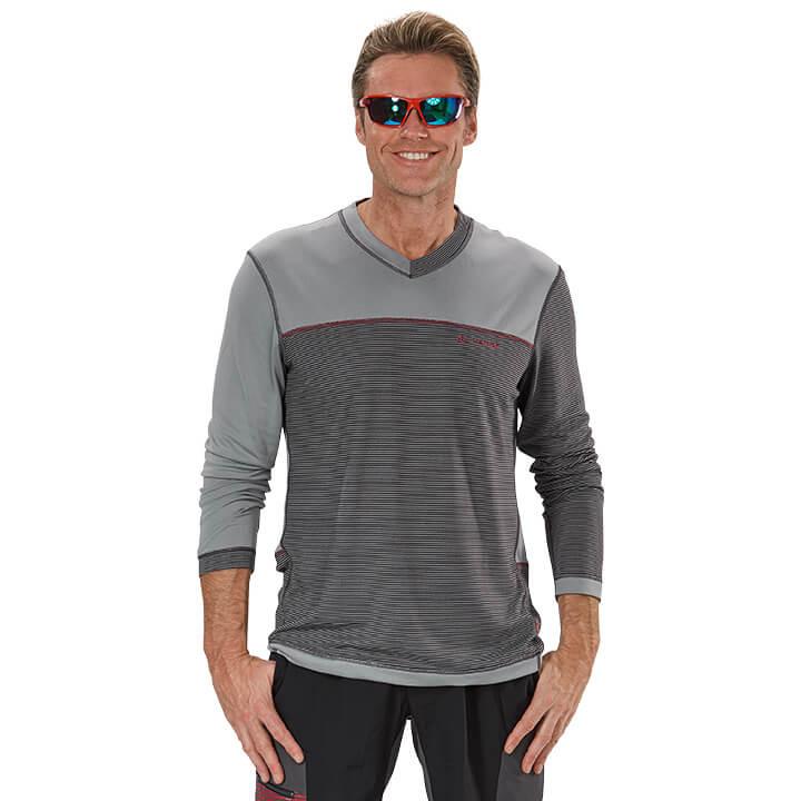 VAUDE met lange mouwen Moab bikeshirt, voor heren, Maat M, Fietsshirt,