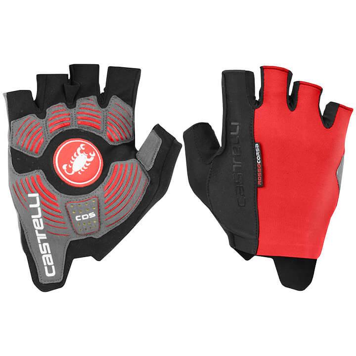 CASTELLI Handschoenen Rosso Corsa Espresso handschoenen, voor heren, Maat M, Fie