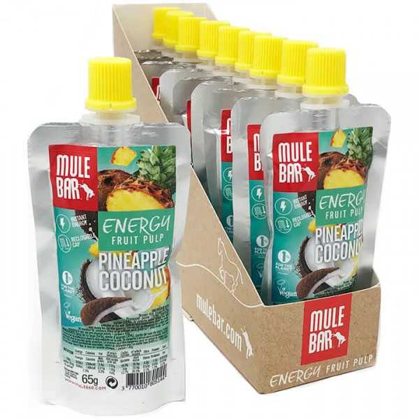 MULEBAR Energy Fruit Pulp Pineapple Coconut 10Stck./K.